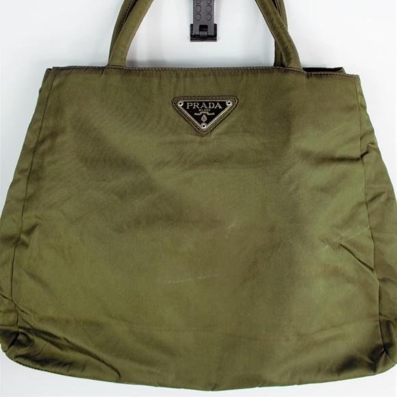 c3f1bffab717e2 Prada Bags   Authentic Vtg Tessuto Olive Green Nylon Bag   Poshmark
